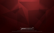 Red Polygonal Abstract Background. Geometric Illustration With Gradient. Background Texture Design For Poster, Banner, Card And Template. Vector Illustration