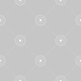 Geometric ornament. Light gray seamless pattern - 191743248