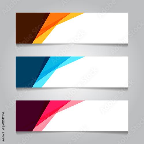 Fototapeta Abstract Web banner design background or header Templates obraz
