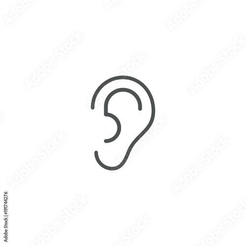 ear icon. sign design Canvas