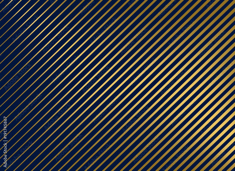 Fototapeta premium golden diagonal lines vector background