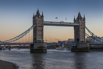 Fototapeta na wymiar Tower Bridge in London at sunset