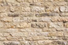 New Limestone Building Wall