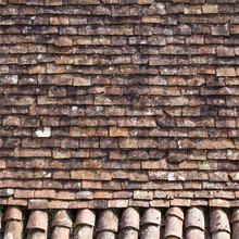 Rustic French Roof Tiles Texture