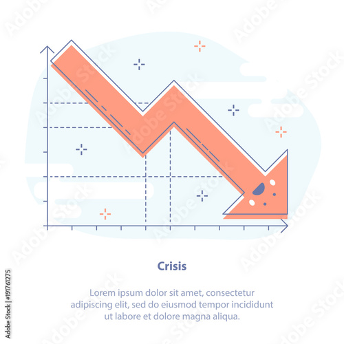 Flat line icon concept of crisis slump or drop in sales upset flat line icon concept of crisis slump or drop in sales upset falling down ccuart Images