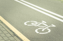 Asphalted Bicycle Track With A...