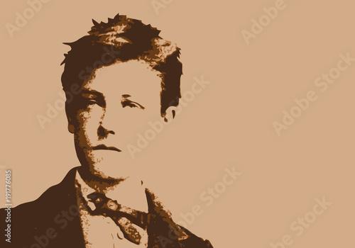 Fototapeta Rimbaud - écrivain - portrait - poète - personnage célèbre - littérature - livre