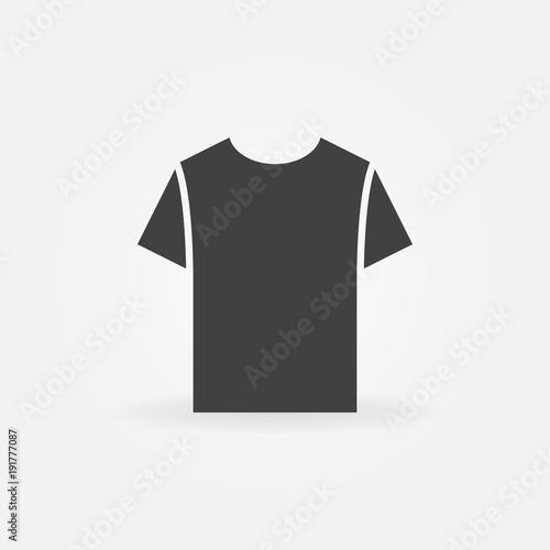 Fotomural  Tshirt icon. Vector t-shirt symbol