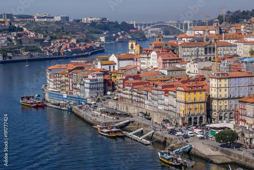 Tuinposter Schip Porto, Portugal