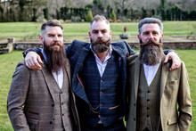 Smart Men With Beard And Moust...