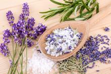 Herbal Salt / Top View Of A Sp...