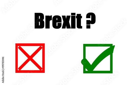 Fényképezés  Concept of illustration on public referendum - BREXIT- yes or no