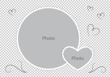 Round Photo Frames With Heart For Family Album