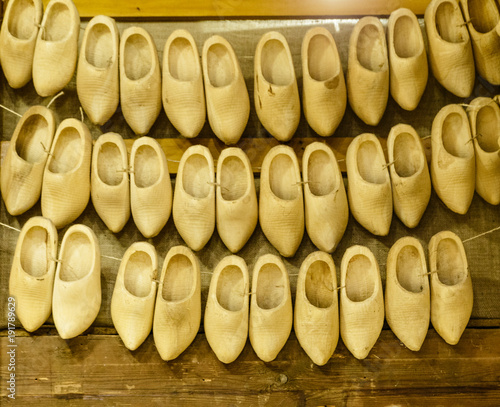 Wooden Shoes Clogs Typican Dutch Shoes Amsterdam Netherlands