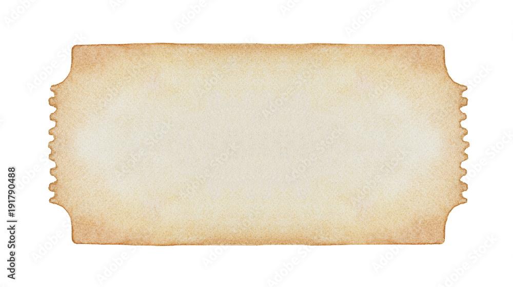 Fotografía Hand drawn watercolour entry ticket pattern