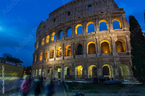 Fotografie, Obraz  February 2018: The ancient Roman Colosseum in Rome, Italy