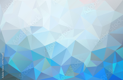 Fototapety, obrazy: Abstract background of triangles. Blue, white, light bright multicolor background