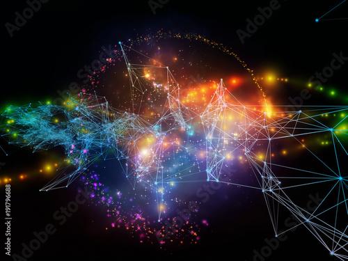 Staande foto Fractal waves Paradigm of Information Stream