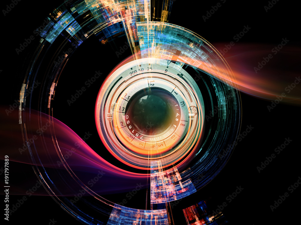 Fototapeta Digital Lens Effect - obraz na płótnie