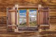 canvas print picture - Altes Fenster auf einer Alm