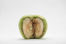 Isolated Green Apple, Rotting