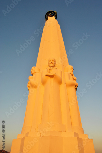 Fotomural Astronomers Monument in Griffith Observatory, Los Angeles, California