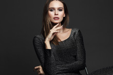 Fashion Portrait Of Young Elegant Woman.