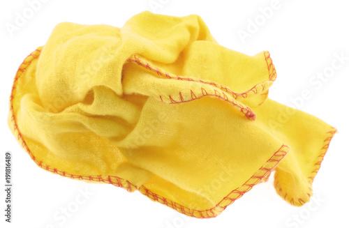 Fotografie, Obraz  essuie-tout jaune,  fond blanc