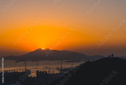 Photo  Hong Kong Sunset
