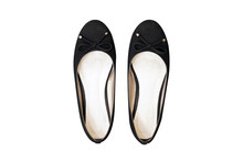 Isolated Flat Layer Of Woman Shoes