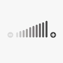 Volume Adjustment Icon High And Low Fading In Vector Eps10