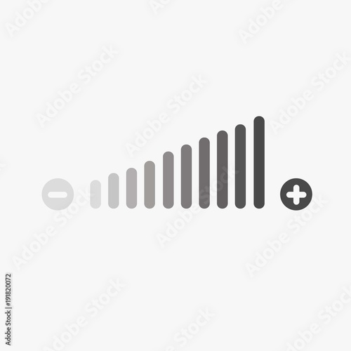 Stampa su Tela volume adjustment icon high and low fading in vector eps10