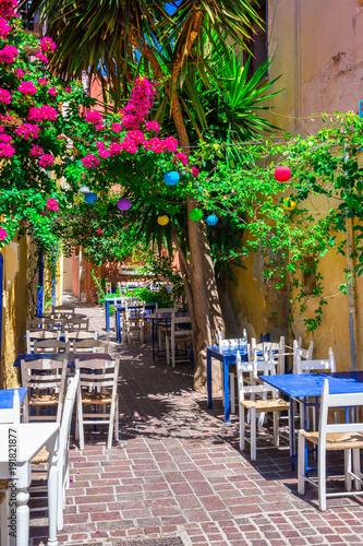 Foto op Plexiglas Landschappen Street in the old town of Chania, Crete, Greece