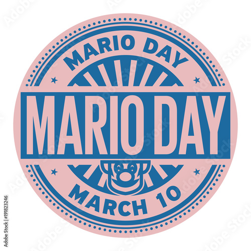 Mario Day stamp Poster