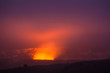 Fire and steam erupting from Kilauea Crater, Big Island of Hawaii
