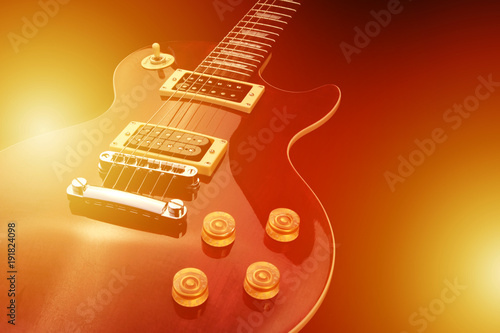 Photo  Electric guitar isolated