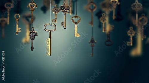 Fotografia onceptual image with hanging keys