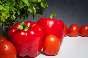Pomidory i papryka