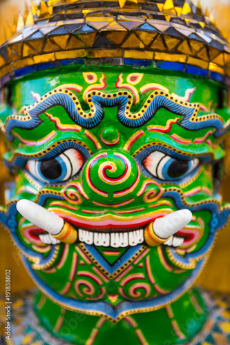 Türaufkleber Phantasie Guardian Demon at Wat Arun Temple