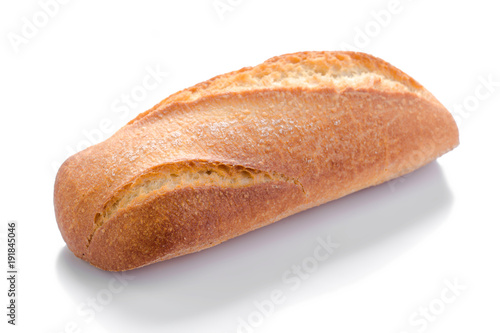 Fotografie, Obraz  French bread, isolated on the white background