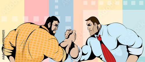 Fotografía  Struggle of businessmen