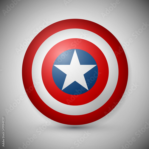 Shield with a star, superhero shield, comics shield Tapéta, Fotótapéta