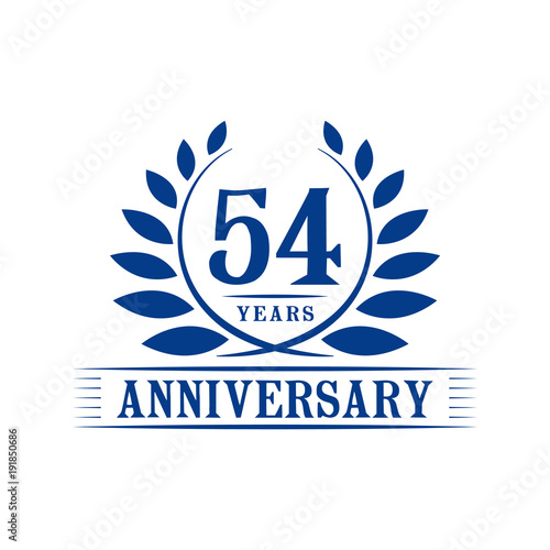 Fotografia  54 years anniversary logo template.