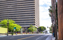 Building Of The Federal Court In Los Angeles, California. Business Center Of The City