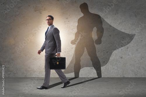 Fotografía  Businessman with aspiration of becoming superhero