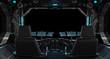 Spaceship grunge interior window isolated
