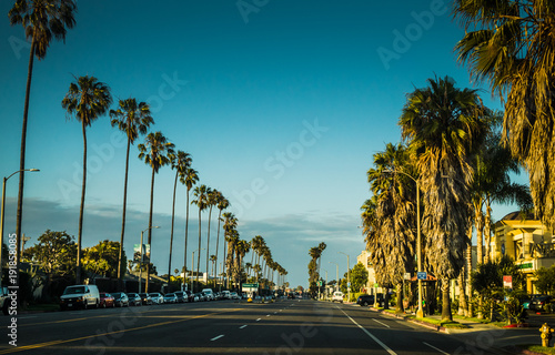 Picturesque urban view in Santa Monica, Los Angeles, California