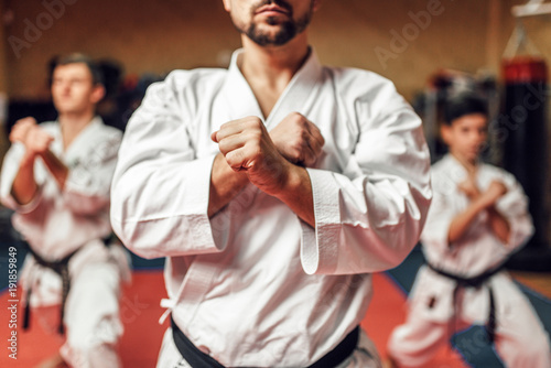 Canvas Prints Martial arts Martial arts fighters hone their skills