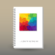 Vector Cover Of Diary Or Noteb...