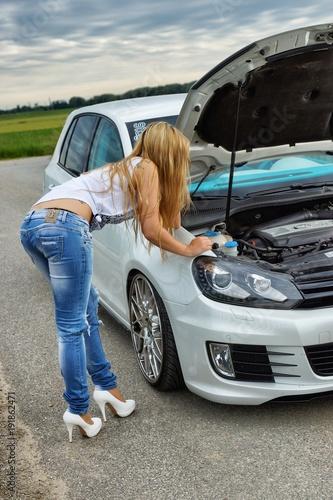 Photo  Car & Girl 1